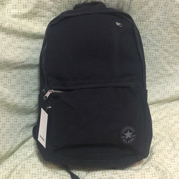 Black canvas converse backpack